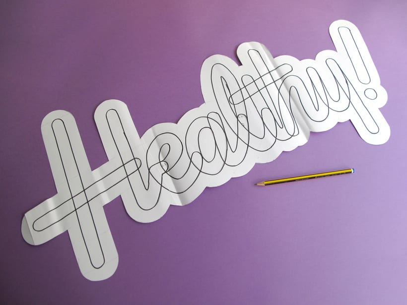 Composition, Papercraft and Lettering (Student Project) 9