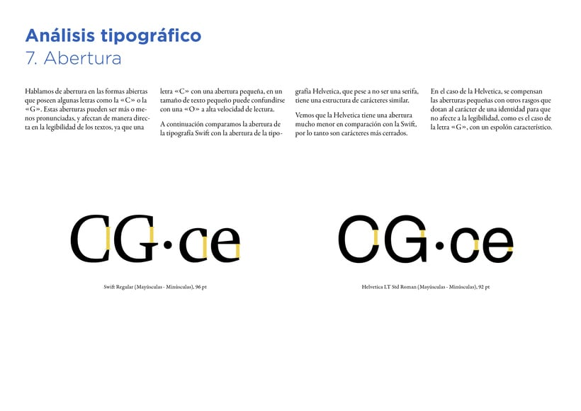 Type Study: Swift by G. Unger (Student Project) 10