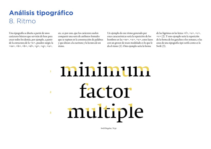 Type Study: Swift by G. Unger (Student Project) 12
