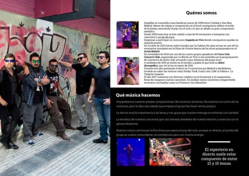 Dossier promocional del grupo Dspaldas -1