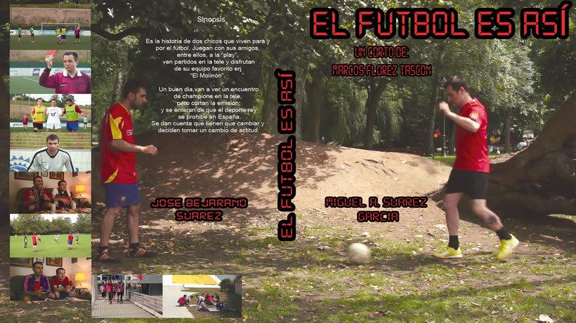 """Caratula y galleta DVD  """"El fútbol es así"""" 0"""