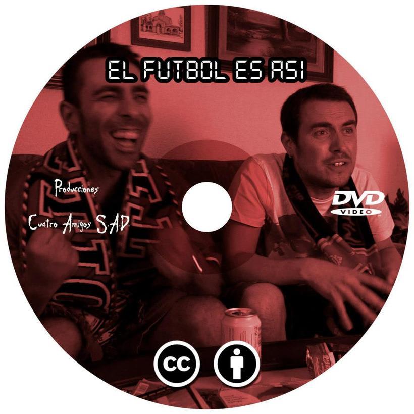 """Caratula y galleta DVD  """"El fútbol es así"""" 1"""
