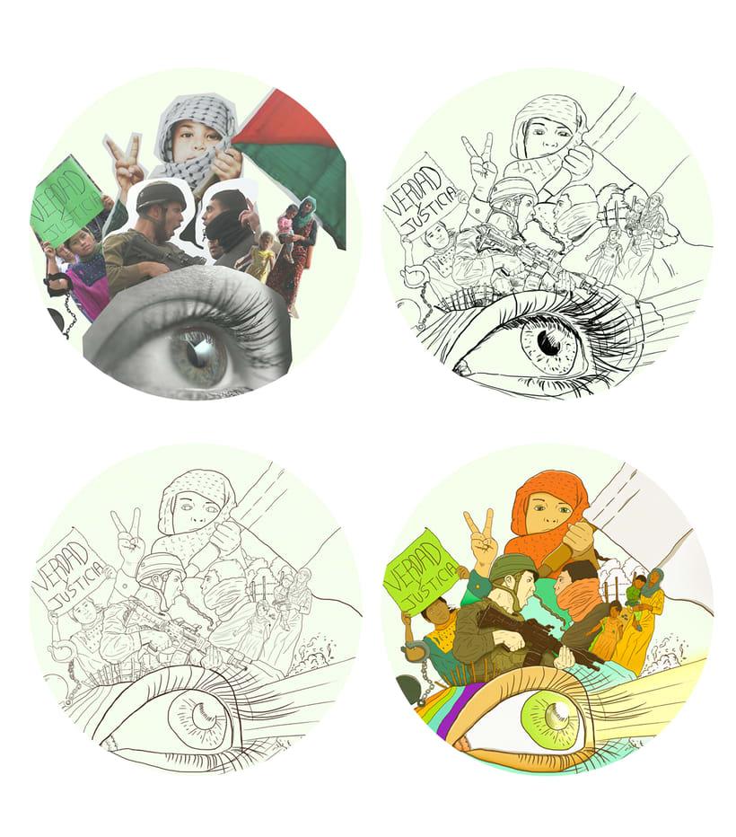 """Mi Proyecto del curso: Técnicas de Ilustración y composición realista para prensa """"Cambio 16"""" 3"""