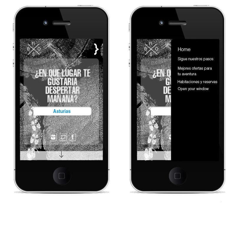 Idea creativa y diseño para un nuevo concepto de web de casas rurales 0
