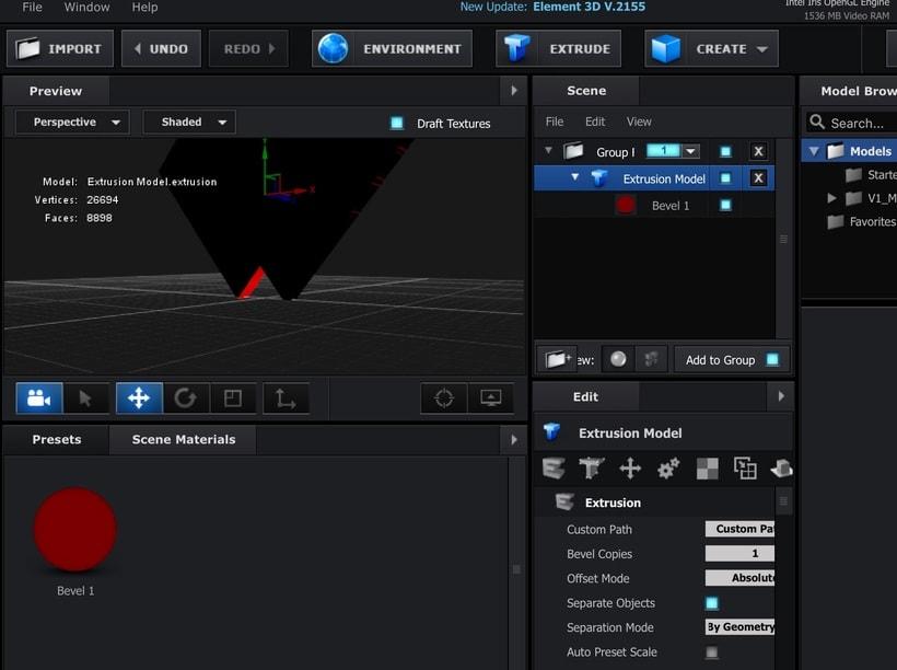 VIDEO COPILOT ELEMENT 3D NO PUEDO CAMBIAR COLOR DE MATERIAL 1