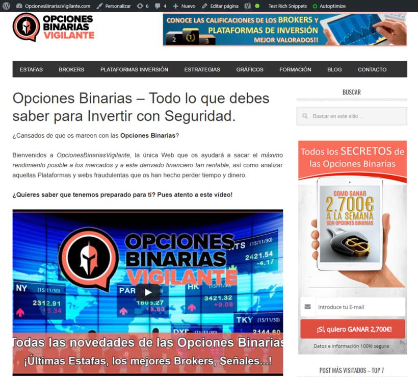 Nueva web para una empresa de inversiones 1