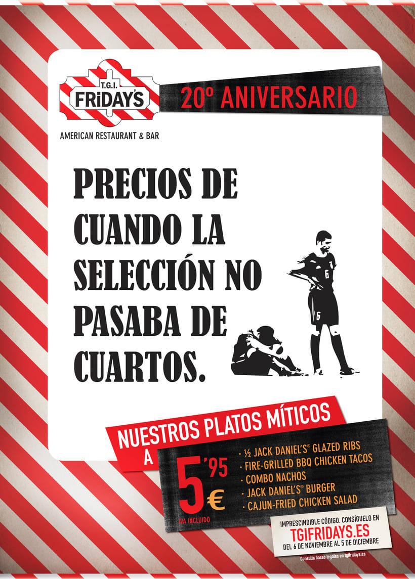 TGI FRIDAY'S Spain - Campaña 20 aniversario -1