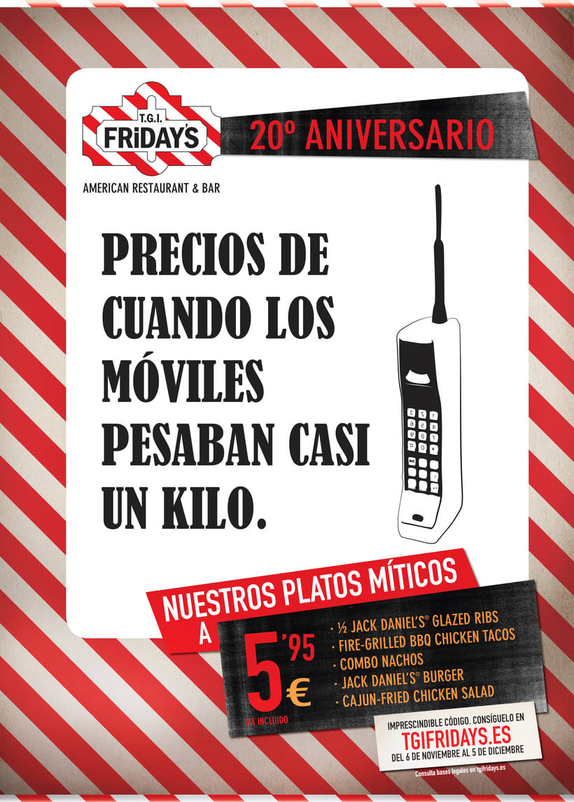 TGI FRIDAY'S Spain - Campaña 20 aniversario 0