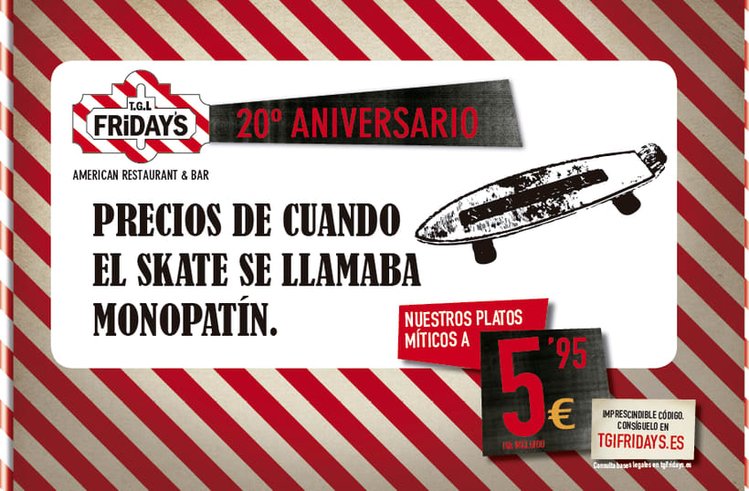 TGI FRIDAY'S Spain - Campaña 20 aniversario 1