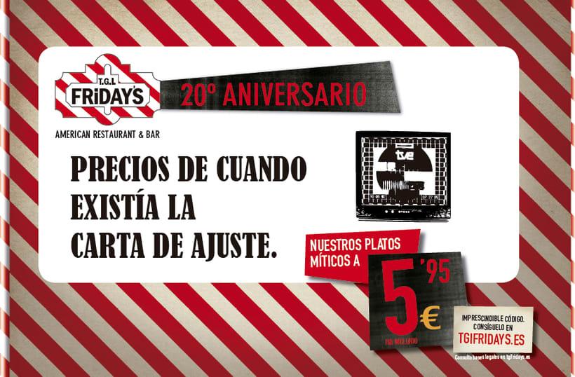 TGI FRIDAY'S Spain - Campaña 20 aniversario 2