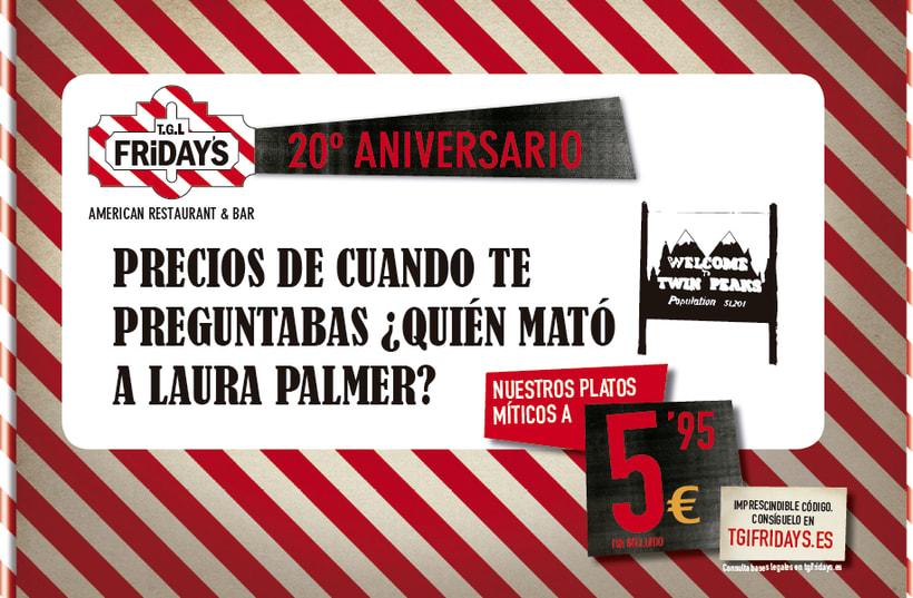 TGI FRIDAY'S Spain - Campaña 20 aniversario 3