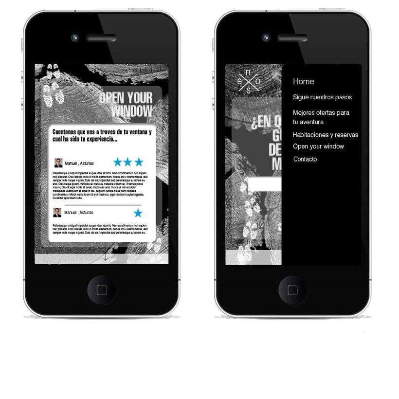 Idea creativa y diseño para un nuevo concepto de web de casas rurales 1