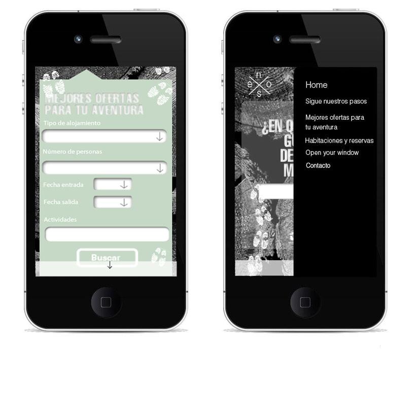 Idea creativa y diseño para un nuevo concepto de web de casas rurales 2