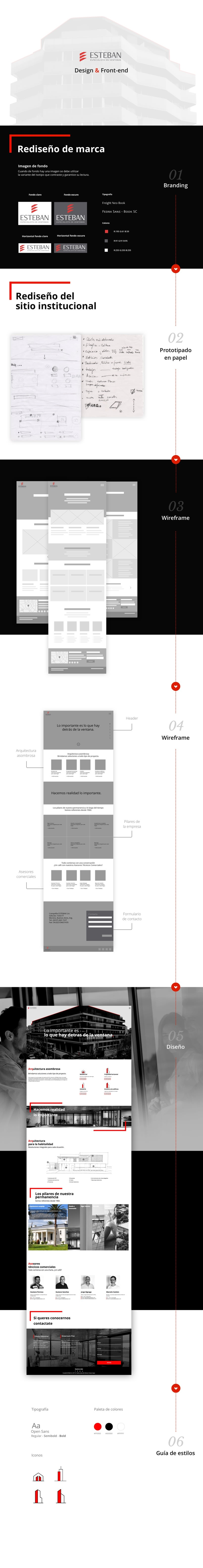 Esteban - especialista en ventanas  -- proyecto de rediseño de marca y sitio institucional 0