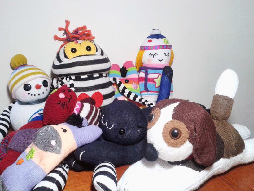 """Mi proyecto: """"Sock Toys"""" Muñecos de  guantes y medias. 5"""