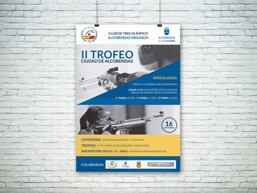 Poster para el Club de Tiro Olímpico Alcobendas (II Trofeo Ciudad de Alcobendas) -1