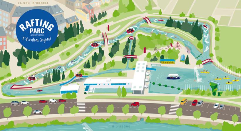 Ilustración-Mapa / RAFTING PARC 0