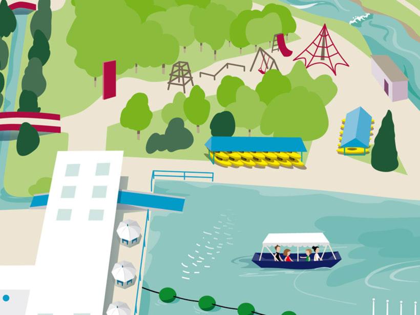 Ilustración-Mapa / RAFTING PARC 3