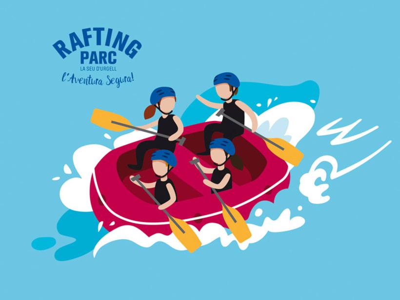 Ilustración-Mapa / RAFTING PARC 9