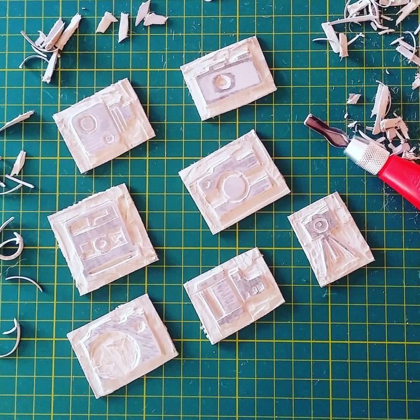 Cámaras fotográficas para estampación en tela - Producto: Individuales 0