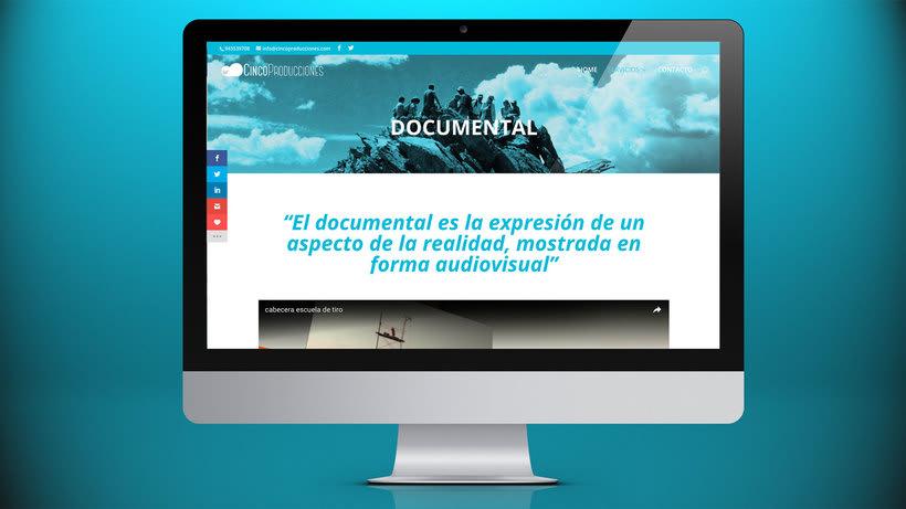 Web Cinco Producciones. Productora Audiovisual 7