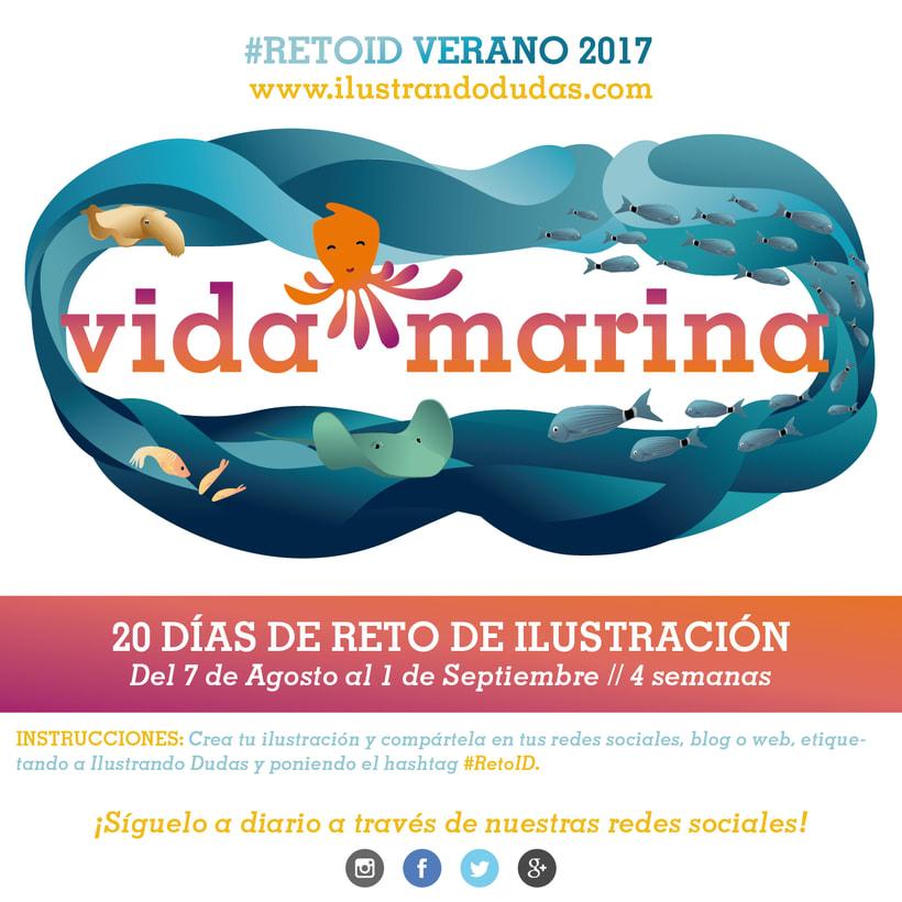 Reto de dibujo #RetoID - Vida Marina de Ilustrando Dudas 1
