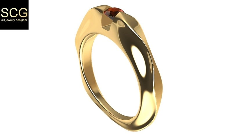 Ring with gem 0