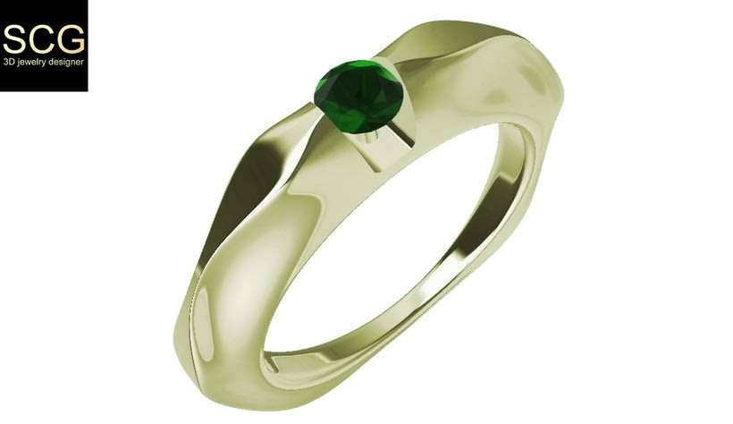 Ring with gem 1