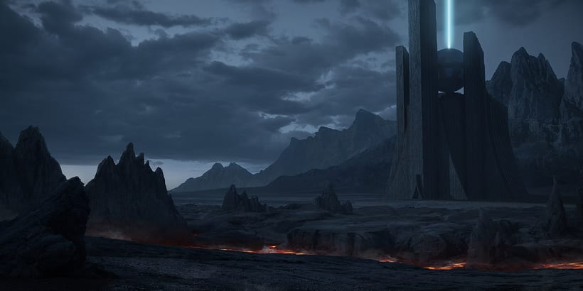 Alien world - Matte painting 0