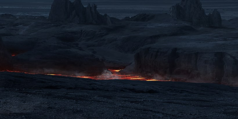 Alien world - Matte painting 9