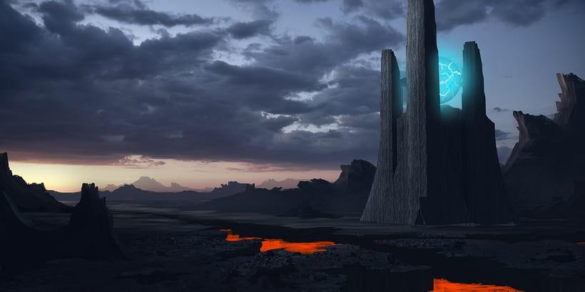 Alien world - Matte painting 2