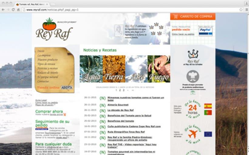 Página Web Corporativa y Tienda Online Rey Raf 1