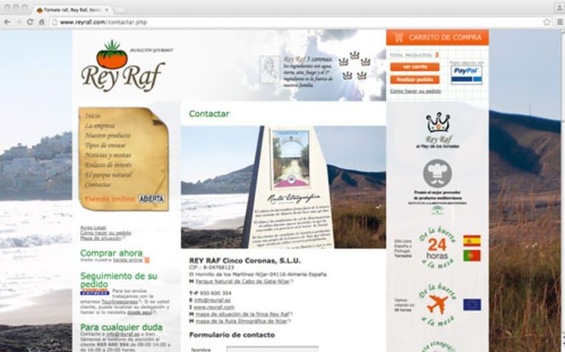 Página Web Corporativa y Tienda Online Rey Raf 3