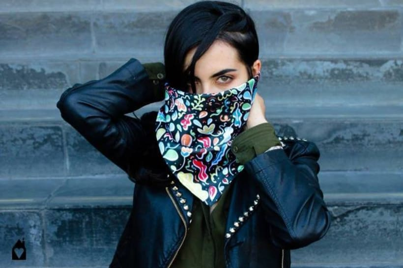 – MADE WITH ♥ – SILK SCARVES - GARDENS 1