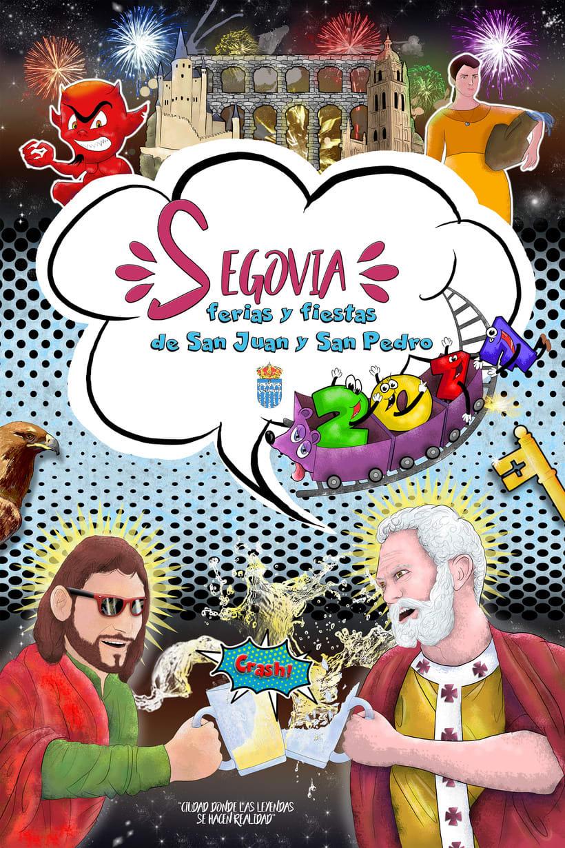 Cartel de fiestas San Juan y San Pedro Segovia / Participación concurso Segovia 2017 -1