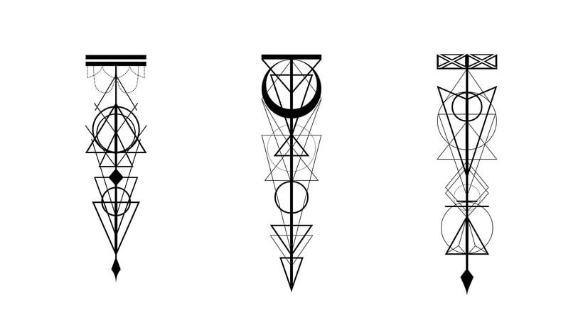 Diseño de tatuajes geométricos -1