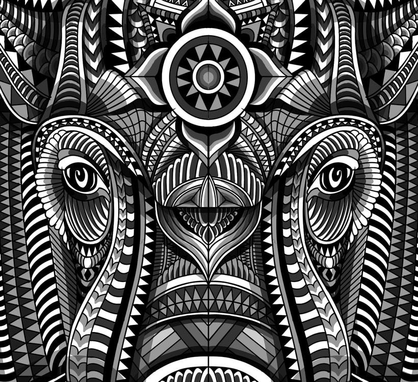 Elefante geométrico -1