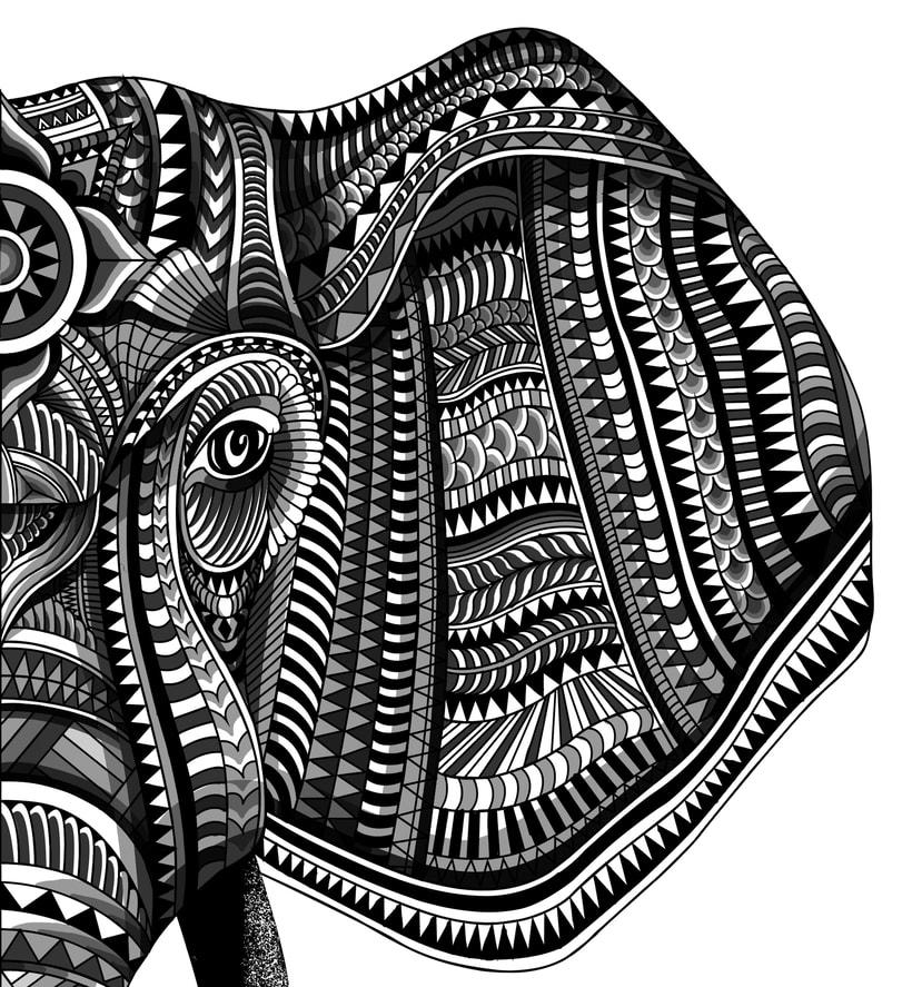 Elefante geométrico 1