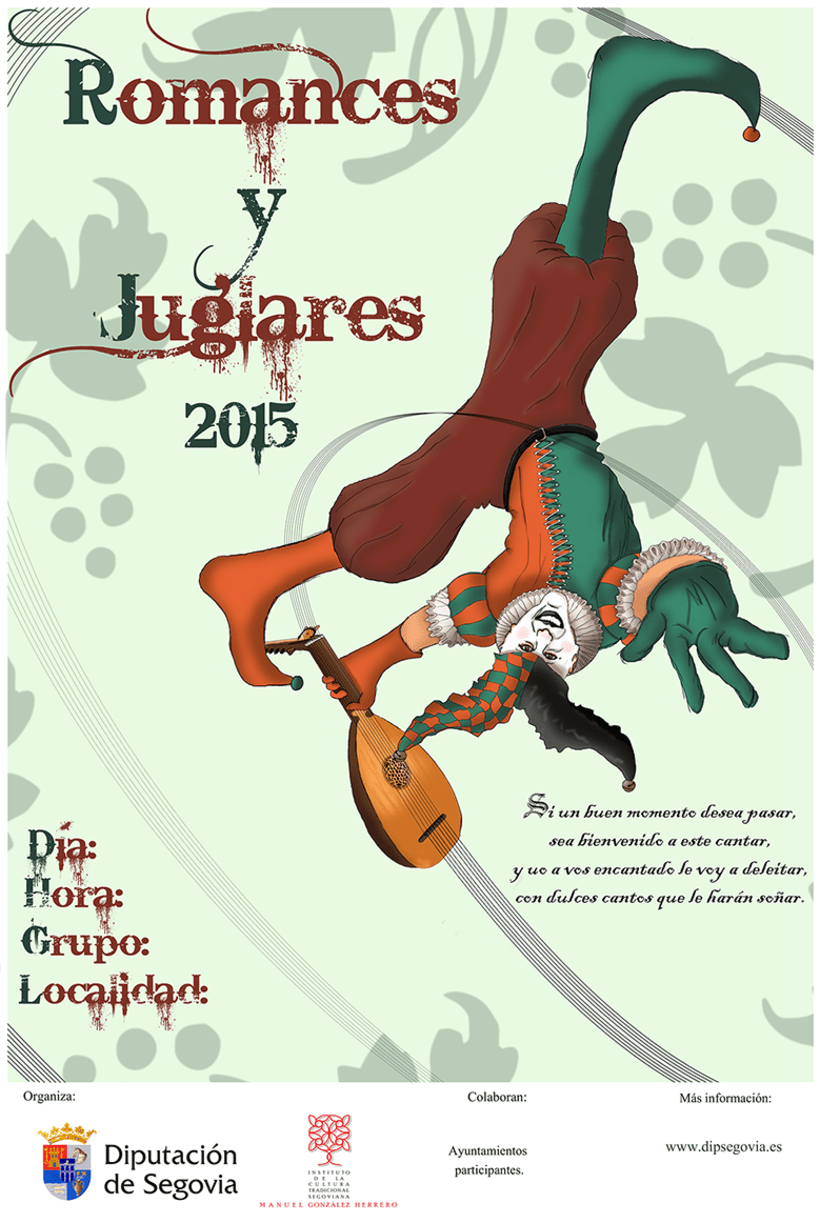 Cartel Romances y Juglares 2015 Segovia / Participación concurso -1