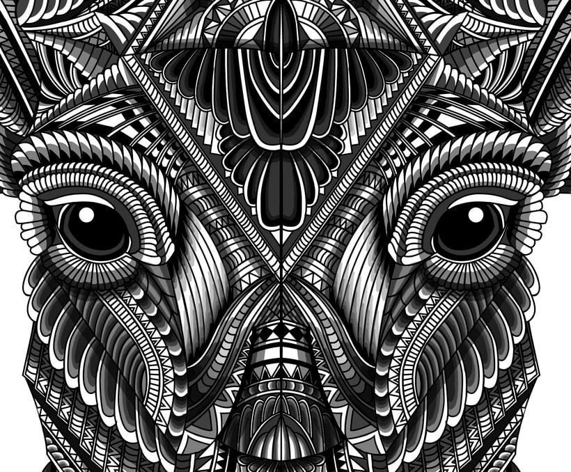 Ciervo geométrico -1