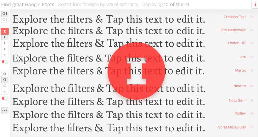 Find great Google fonts, elige la mejor tipografía 1