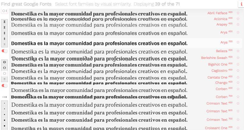 Find great Google fonts, elige la mejor tipografía 5