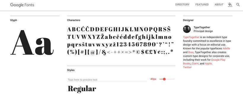 Find great Google fonts, elige la mejor tipografía 6