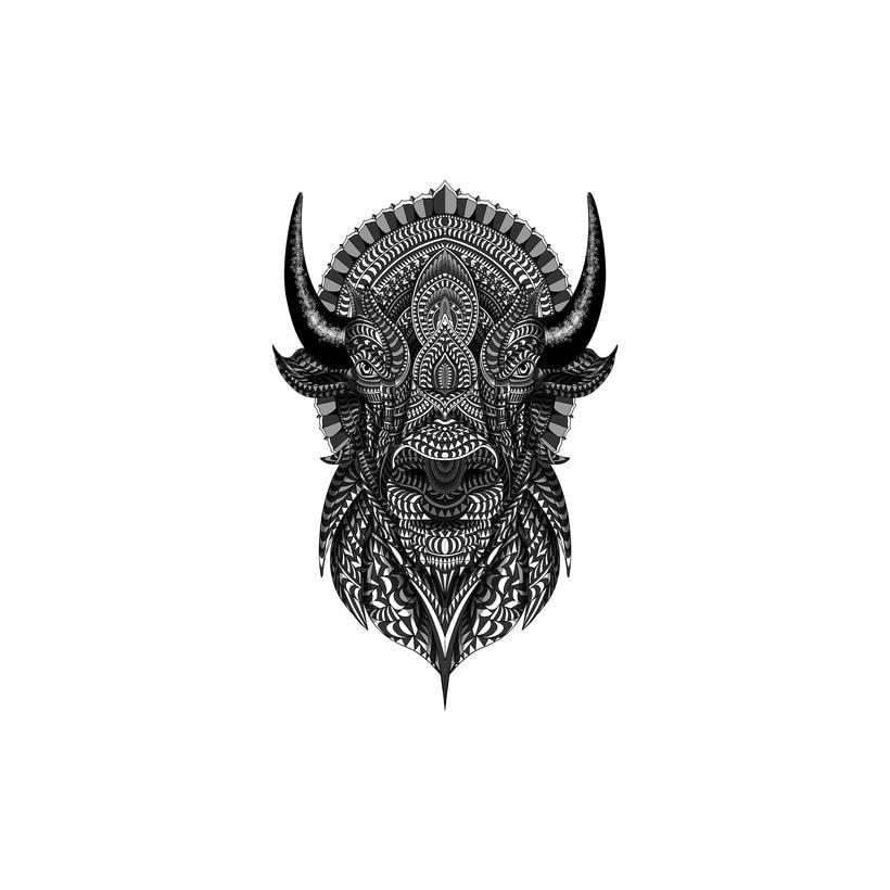 Buffalo geométrico 3