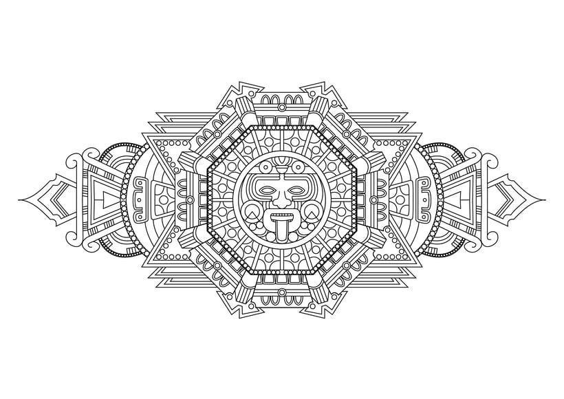 Diseño de skates de estilo maya 1