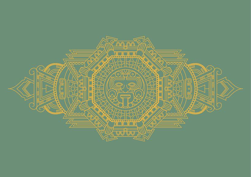 Diseño de skates de estilo maya 3