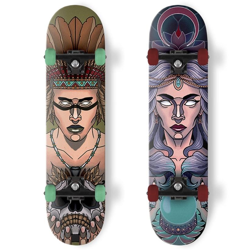 Diseño de skates de estilo neotradicional -1