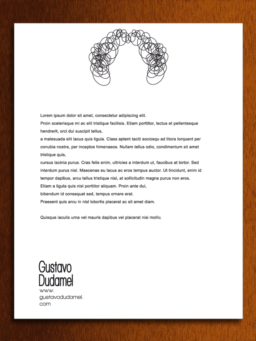 Papelería - Gustavo Dudamel (director de orquestas sinfónicas) -  propuesta -1