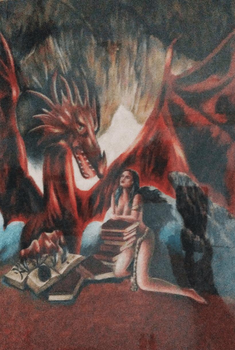 Dragón / Lapices de colores  2015 -1