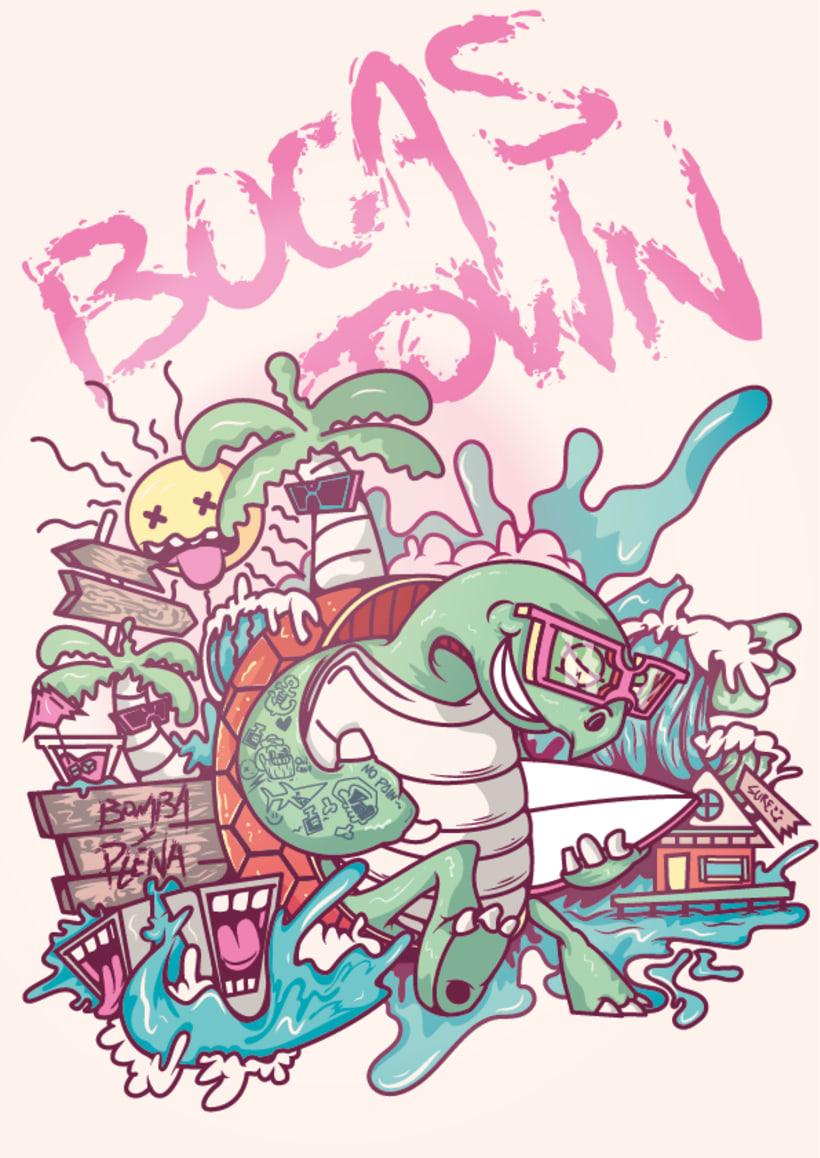 Mi Proyecto del curso: Ilustración para no ilustradores : Bocas Town 0